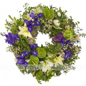 Product Image for Wreath-Purple Green & White