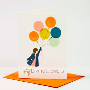 Product Image for Happy Birthday Fly Away Balloon Card