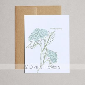 Product Image for Sympathy Hydrangea Card