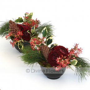 Product Image for Christmas Table Flowers In Red & Green
