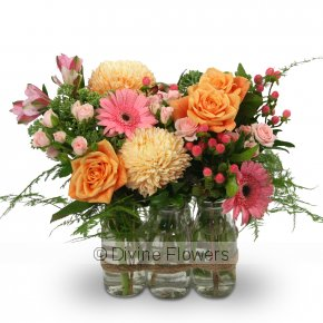 Product Image for Floral Milk Bottles (More Colours)